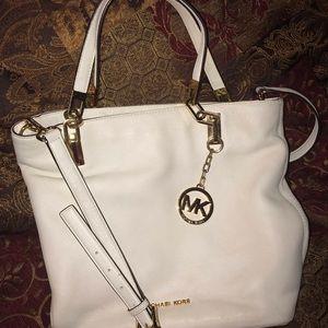 Optic white, Michael Kors  Medium handbag.